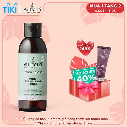 Nước Hoa Hồng Se Khít Lỗ Chân Lông Dành Cho Da Mụn Sukin Blemish Control Pore Perfecting Toner 125ml