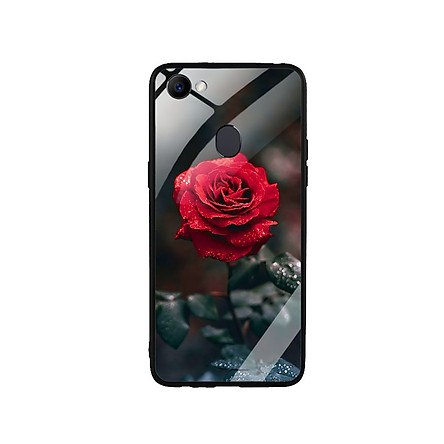 Ốp Lưng Kính Cường Lực cho điện thoại Oppo F7 -  0322 ROSE08