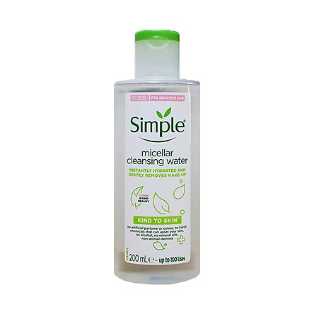 Tẩy trang Simple Kind To Skin Cleansing Water Micellar 200ml