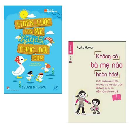 Combo 2 cuốn sách hay về nuôi dạy con : Chiến Lược Của Mẹ Thay Đổi Cuộc Đời Con + Không Có Bà Mẹ Nào Hoàn Hảo (Tặng kèm Bookmark thiết kế AHA)