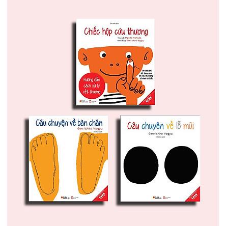 Combo 03 Cuốn Ehon Nhật Bản Dành cho bé: Chiếc hộp cứu thương - Câu chuyện về bàn chân - Câu chuyện về lỗ mũi