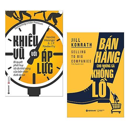 Combo Sách Kỹ Năng Làm Việc Hay : Khiêu Vũ Với Áp Lực + Bán Hàng Cho Những Gã Khổng Lồ ( Tặng Kèm Postcard HAPPY LIFE )