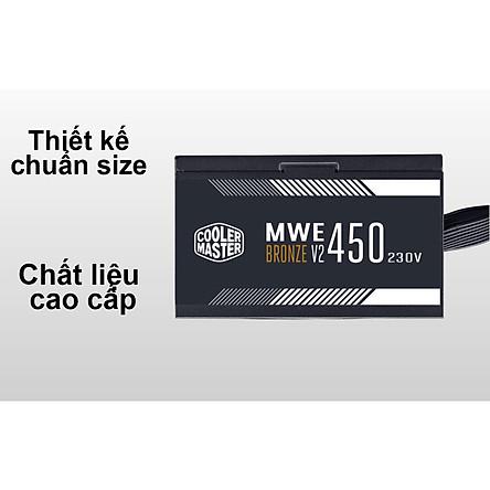 Nguồn máy tính Cooler Master MWE Bronze 450W V2 230V (MPE-4501-ACABW-BEU) - Hàng Chính Hãng