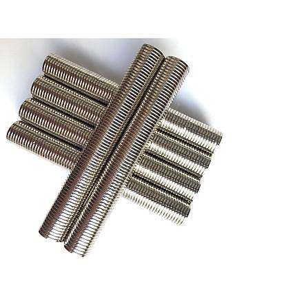 50 Viên nam châm đất hiếm NdFeB phi tròn 15x1.5mm, lực từ cực mạnh