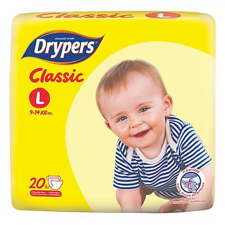 Tã Dán Drypers Classic Gói Trung L20 (20 Miếng)