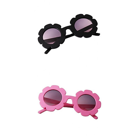 2 Pieces Kids Vintage Flower Eyewear Sunglasses UV400 Shades For Girls Boys