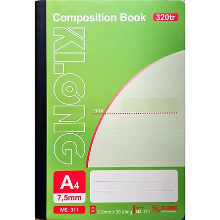Lốc 2 quyển Sổ may dán gáy Klong 320 trang