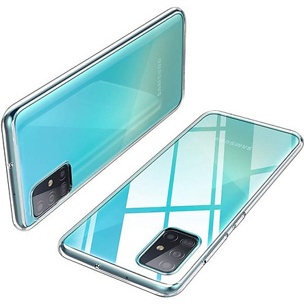 Ốp lưng silicon dẻo trong suốt Loại A cao cấp cho Samsung Galaxy A51