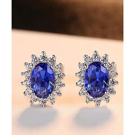 Bông tai Bạc hoa tai bạc ý 925 cho nữ đính đá cao cấp B2414 Bảo Ngọc Jewelry