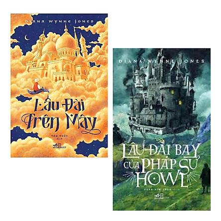 Combo Sách Văn Học Hay: Lâu Đài Bay Của Pháp Sư Howl (Tái Bản 2020) + Lâu Đài Trên Mây