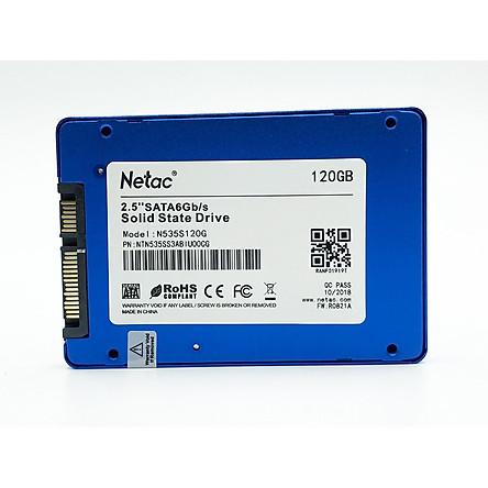 Ổ Cứng SSD 120G SATA III NETAC N500S - Hàng Chính Hãng