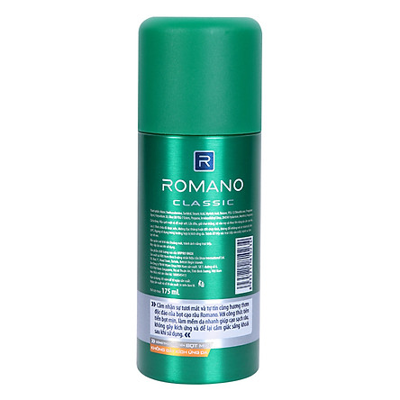 Bọt Cạo Râu Romano Classic (175ml)