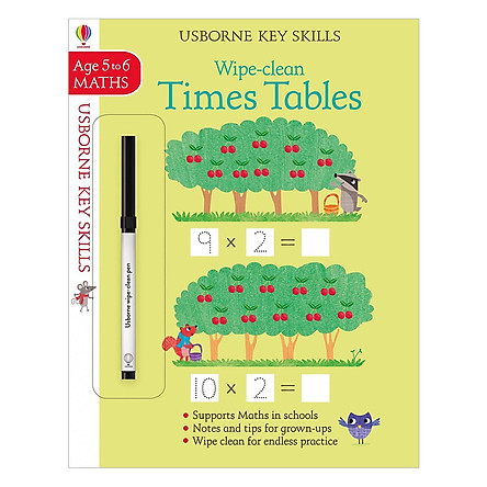 Usborne Usborne Key Skills Wipe-clean Times Tables 5-6