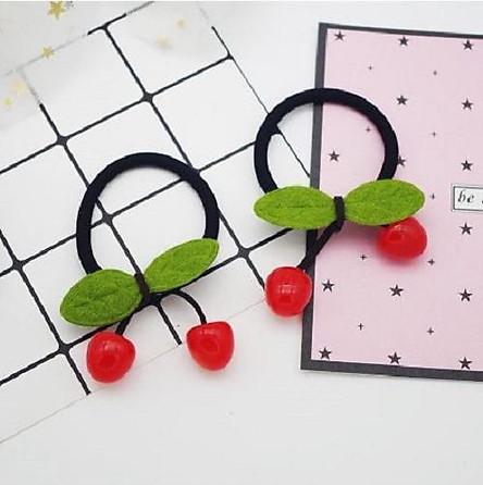Bộ 2 dây cột tóc quả cherry dễ thương cho bạn gái