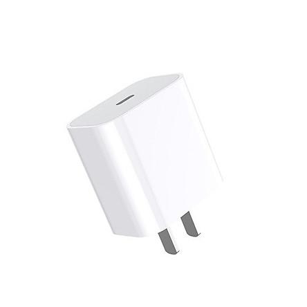 Adapter sạc nhanh PD 18W cho Apple - Tặng cáp sạc Type C to Lightning