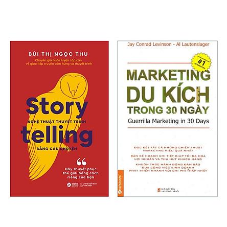 Combo Thuyết Phục Thế Giới: Storytelling – Nghệ Thuật Thuyết Trình Bằng Câu Chuyện + Marketing Du Kích Trong 30 Ngày