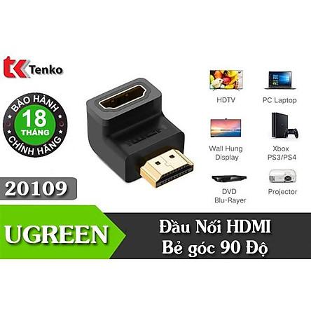 Đầu Nối HDMI Vuông Góc 90 Độ Ugreen 20109 - Hàng chính hãng