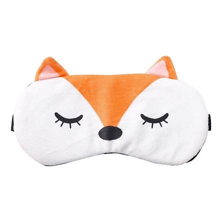 Bịt Mắt Ngủ Phong Cách Hàn Quốc (Tặng Kèm Túi Giải Nhiệt Làm Mát Mắt)- Orange Fox
