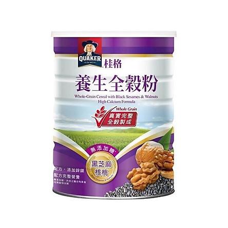 Bột ngũ cốc mix hạch đào - mè đen dinh dưỡng Quaker 600g/ hộp