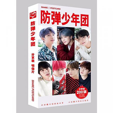 Postcard BTS mẫu 2 với tổng 180 món