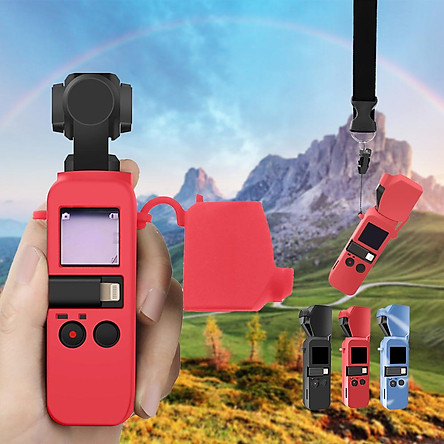 For DJI OSMO POCKET Protector Set Soft Silicone Case Cover with Neck/Wrist Strap Lanyard for Osmo Pocket Handheld Gimbal