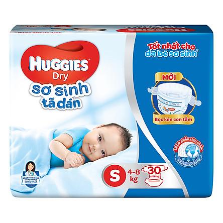 Tã Dán Sơ Sinh Huggies Dry Newborn S30 (30 Miếng) - Bao Bì Mới