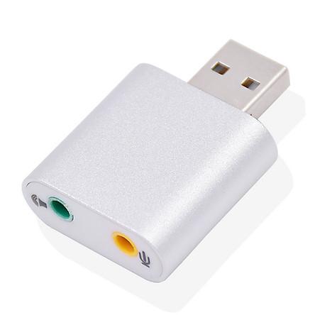 Đầu USB Sound Card 7.1 vỏ nhôm cao cấp âm thanh 3D