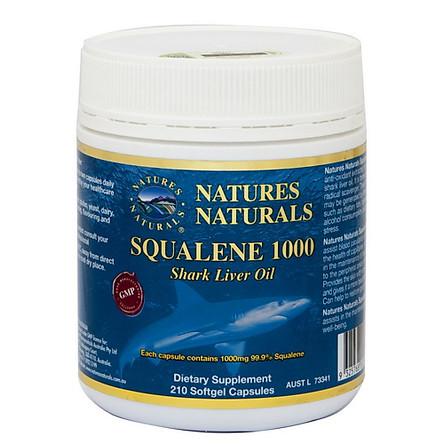 Thực Phẩm Chức Năng - Viên uống dầu gan cá mập nguyên chất 1000mg Natures Naturals Squalene 1000mg (210 viên)