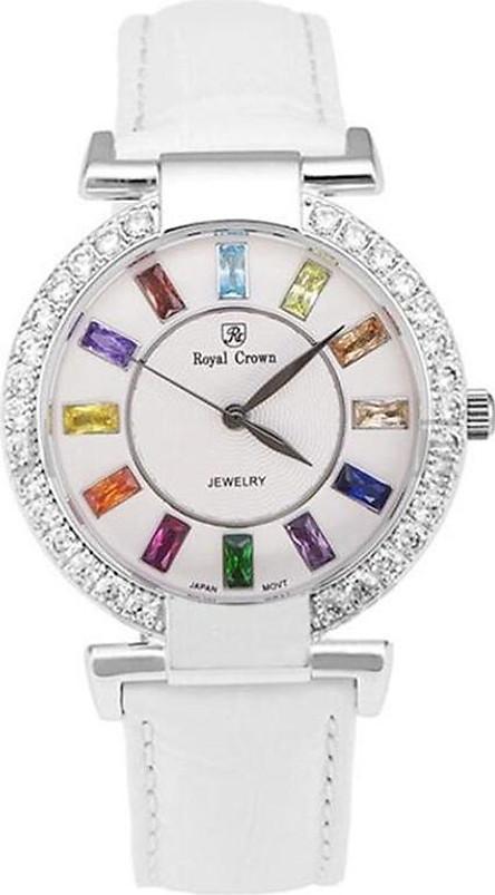 Đồng hồ nữ chính hãng Royal Crown 4604 dây da trắng