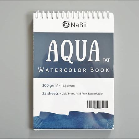 Sổ vẽ Màu Nước Nabii Aqua Fat 300gsm