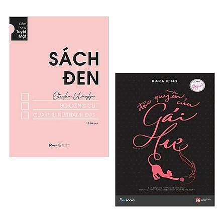 Combo 2 Cuốn Sách Kỹ Năng Hay: Sách Đen - Bộ Công Cụ Của Phụ Nữ Thành Đạt + Đặc Quyền Của Gái Hư / Sách Tư Duy - Kỹ Năng Sống Cho Phụ Nữ Thành Công (Tặng Kèm Bookmark Happy Life)