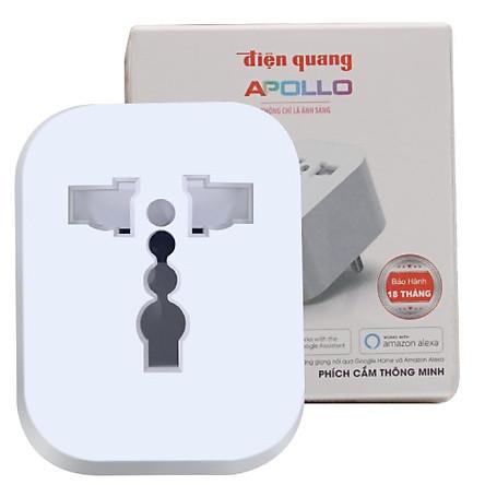 Phích cắm thông minh Điện Quang Apollo ĐQ SP1.1 01 Wifi (Kiểu 1 lỗ, sử dụng wifi)