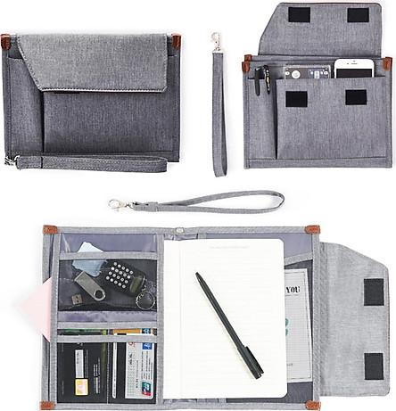 Túi đựng văn kiện giấy tờ tài liệu văn phòng đa năng gấp gọn du lịch Mai Lee - Hàng chính hãng