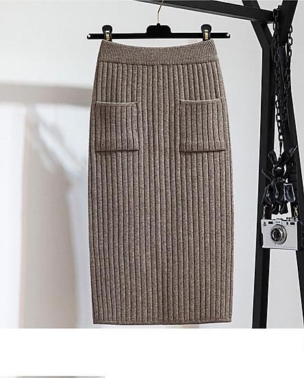 Chân váy bút chì chất len tăm cao cấp form chuẩn kèm  quần lót chất thun lạnh ko ngấn