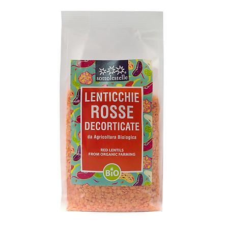 Đậu lăng đỏ hữu cơ Sottolestelle 500g Organic Red Lentils