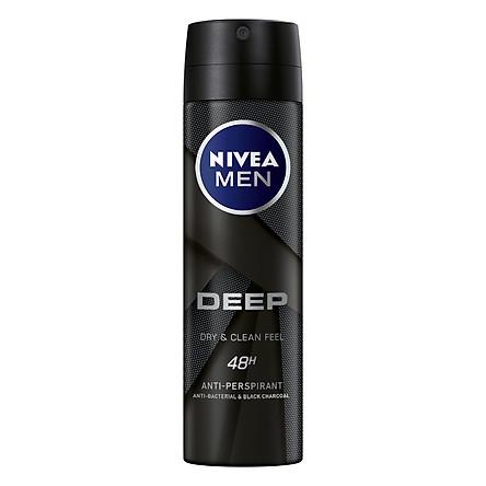 Xịt Ngăn Mùi Nivea Men Than Hoạt Tính 80027 (150ml)