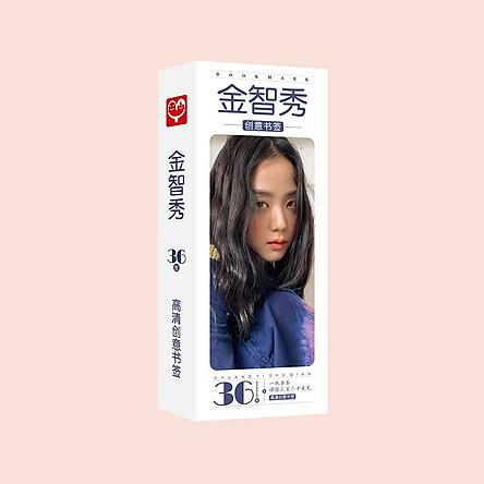 Bookmark postcard JISOO BLACKPINK idol thần tượng kpop đánh dấu trang kẹp sách xinh xắn