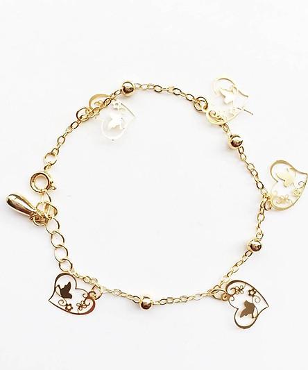 Vòng tay lắc tay nữ xinh xắn mạ vàng (ngẫu nhiên)