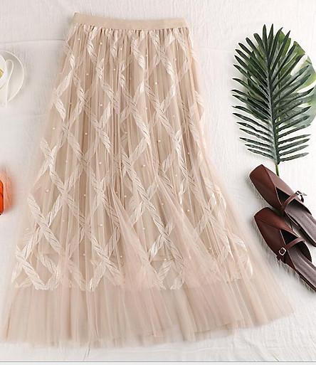 Chân váy ren Tutu ren thừng sang trọng hàng cao cấp VAY20 Free size