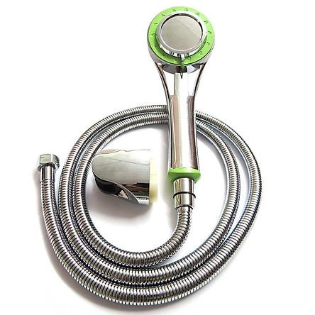 Bộ tay dây sen siêu tăng áp 3 chế độ Eurolife EL-103SH (Trắng xanh)