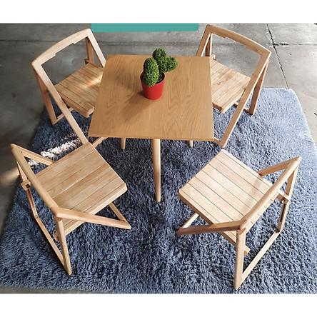 Bộ bàn 4 ghế xếp gấp gọn VIMOS
