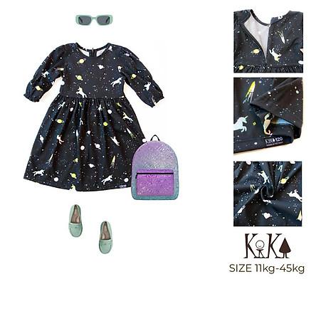 Váy đầm bé gái Pony màu đen - Size 11-45kg - K133