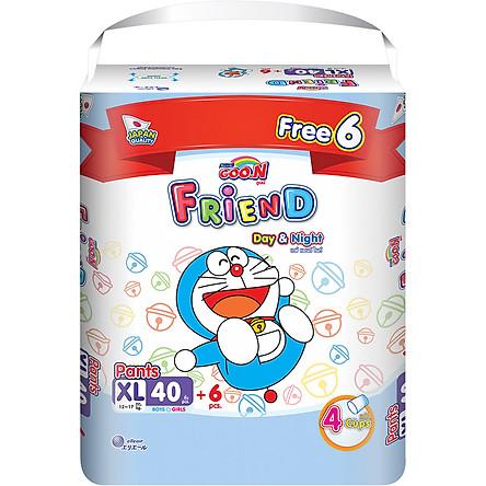 Tã Quần Goon Friend Doremon Gói Cực Đại XL40 (40 Miếng) + Tặng Thêm 6 Miếng Tiết Kiệm Hơn