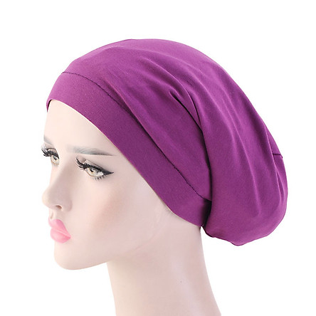 Cotton Hair Cover Bonnet Sleep Cap Silky Lined Sleep Cap Hat for Night Sleeping Women Natural Curly Long Hair Wrap Stay