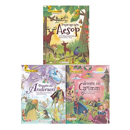 Combo 3 cuốn Tủ Sách Vàng Dành Cho Con Truyện Cổ Grimm + Andersen + Aesop