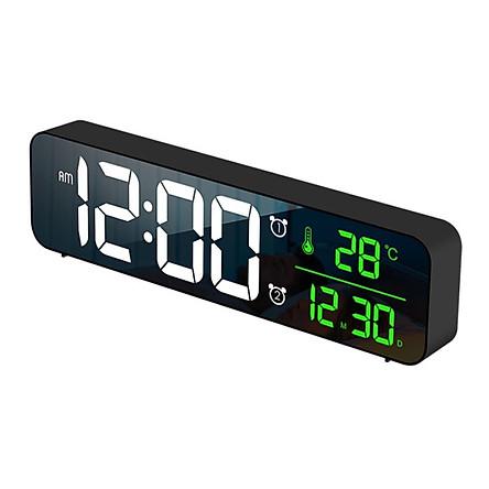 Đồng hồ báo thức kỹ thuật số LED để bàn sạc USB có chế độ báo lại