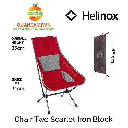 Ghế dã ngoại xếp gọn Helinox Chair Two Scarlet Iron Block