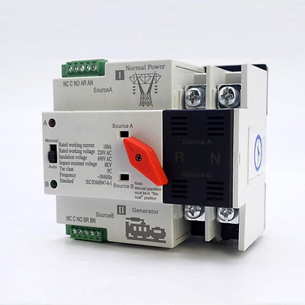 Bộ Chuyển Nguồn Điện Tự Động Đảo Chiều 2P 100A Không gây mất điện