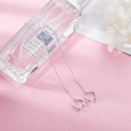 Khuyên tai kẹp vành tai nữ bạc thiết kế độc đáo thời trang cá tính phong cách Hàn Quốc tặng ảnh Vcone