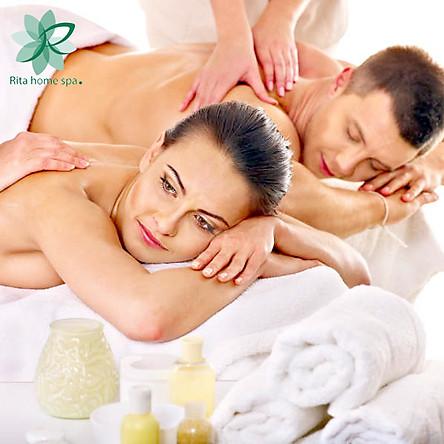 Rita Homespa - Couple VIP Chăm Sóc Da Chạy vitanmin C Cơ Bản Kết Hợp Massage Boby Đá Nóng/ Tinh Dầu 120 Phút